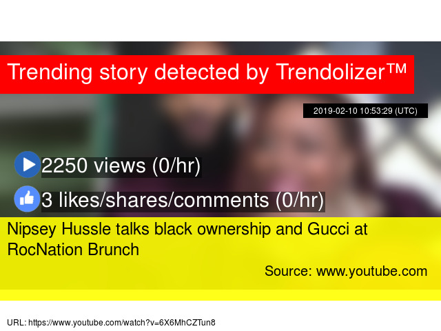 Nipsey Hussle talks black ownership and Gucci at RocNation