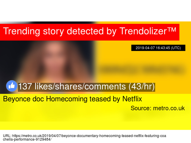 Beyonce doc Homecoming teased by Netflix