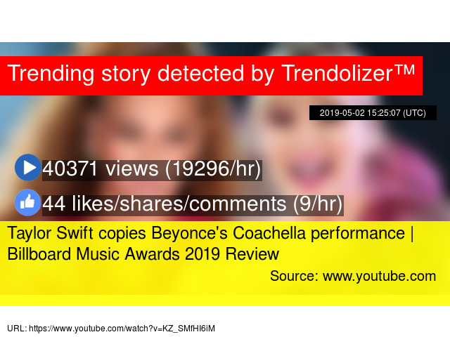 Taylor Swift copies Beyonce's Coachella performance