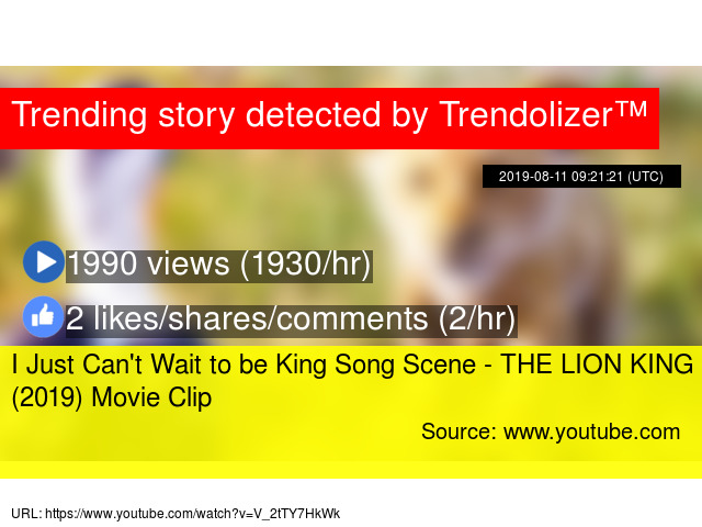 I Just Can't Wait to be King Song Scene - THE LION KING