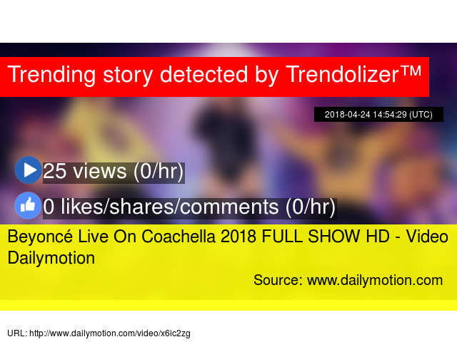 Beyoncé Live On Coachella 2018 FULL SHOW HD - Video Dailymotion