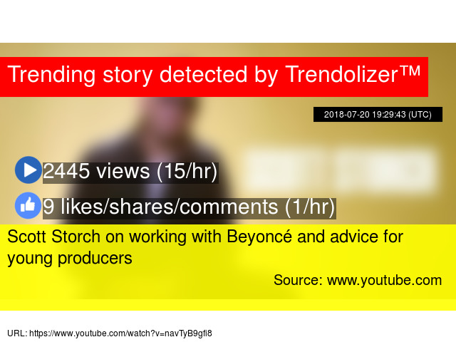 Scott Storch on working with Beyoncé and advice for young